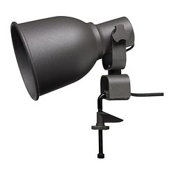 HEKTAR wall/clamp spotlight with LED bulb, dark gray