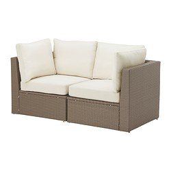 ARHOLMA loveseat, outdoor, brown, beige