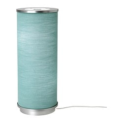 "VIDJA table lamp, turquoise Diameter: 7 "" Height: 19 "" Cord length: 6 ' 7 "" Diameter: 19 cm Height: 48 cm Cord length: 2.0 m"