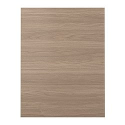 BROKHULT cover panel, walnut effect light grey Width: 61.5 cm Height: 80.0 cm Thickness: 1.5 cm