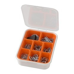 FIXA 102-piece hooks and hanging set