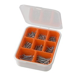 FIXA 200-piece screw set Package quantity: 200 pack