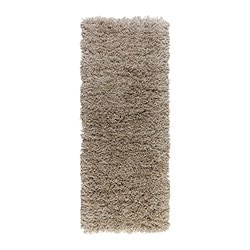 "GÅSER rug, high pile, beige Length: 4 ' 11 "" Width: 1 ' 10 "" Surface density: 13 oz/sq ft Length: 150 cm Width: 56 cm Surface density: 4070 g/m²"