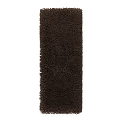 "GÅSER rug, high pile, brown Length: 4 ' 11 "" Width: 1 ' 10 "" Surface density: 13 oz/sq ft Length: 150 cm Width: 56 cm Surface density: 4070 g/m²"