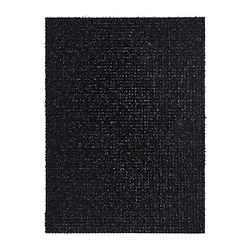 YDBY door mat, black in/outdoor black Length: 79 cm Width: 58 cm Area: 0.46 m²
