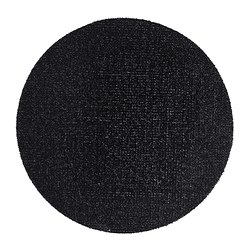 YDBY door mat, in/outdoor black black Diameter: 90 cm Area: 0.64 m² Surface density: 3080 g/m²