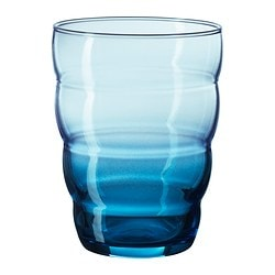 SKOJA glass, blue Height: 10 cm Volume: 31 cl