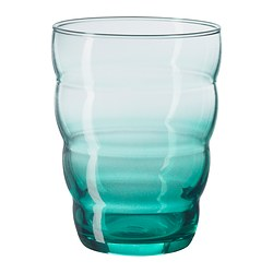 SKOJA glass, turquoise Height: 10 cm Volume: 31 cl