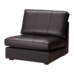 KIVIK one-seat section, Grann dark brown Width: 91 cm Depth: 95 cm Height: 83 cm