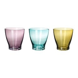 "MILDRA glass, turquoise, green/lilac Height: 3 "" Volume: 7 oz Height: 8 cm Volume: 22 cl"