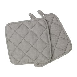 IRIS pot holder, grey Length: 21 cm Width: 21 cm Package quantity: 2 pack