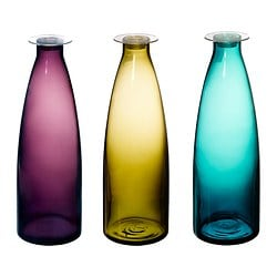 MILDRA bottle, turquoise, green/lilac Height: 27 cm Volume: 1 l