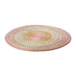 LÄTTAD place mat, multicolour Diameter: 37 cm