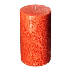 ÅSIKT scented block candle, orange Diameter: 8 cm Height: 14 cm Burning time: 50 hr