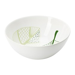 ÖVERENS bowl, green, white Diameter: 16 cm Height: 7 cm