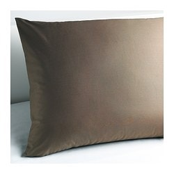 "GÄSPA pillowcase, brown Thread count: 310 square inches Length: 20 "" Width: 30 "" Thread count: 310 square inches Length: 51 cm Width: 76 cm"