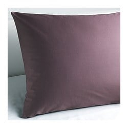 "GÄSPA pillowcase, dark lilac Thread count: 310 square inches Length: 20 "" Width: 30 "" Thread count: 310 square inches Length: 51 cm Width: 76 cm"