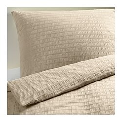 OFELIA VASS quilt cover and 4 pillowcases, beige Quilt cover length: 220 cm Quilt cover width: 240 cm Pillowcase length: 50 cm