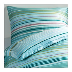 PALMLILJA quilt cover and 2 pillowcases, turquoise Pillowcase quantity: 2 pack Quilt cover length: 200 cm Quilt cover width: 150 cm