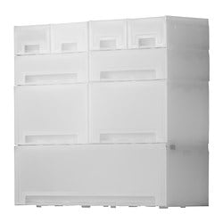 KUPOL pull-out storage, white Width: 53 cm Depth: 18 cm Height: 48 cm