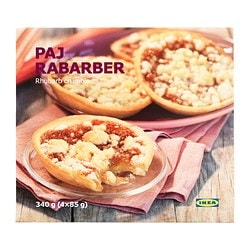 PAJ RABARBER rhubarb crumble tarte Net weight: 12.0 oz Net weight: 340 g