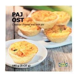 PAJ OST cheese pie Net weight: 6.5 oz Net weight: 185 g
