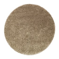 BÄLUM rug, high pile, beige Diameter: 195 cm Surface density: 3250 g/m² Pile coverage: 2300 g/m²