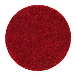 BÄLUM rug, high pile, red Diameter: 195 cm Surface density: 3250 g/m² Pile coverage: 2300 g/m²