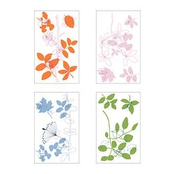 SLÄTTHULT decorative stickers, fantasy flowers