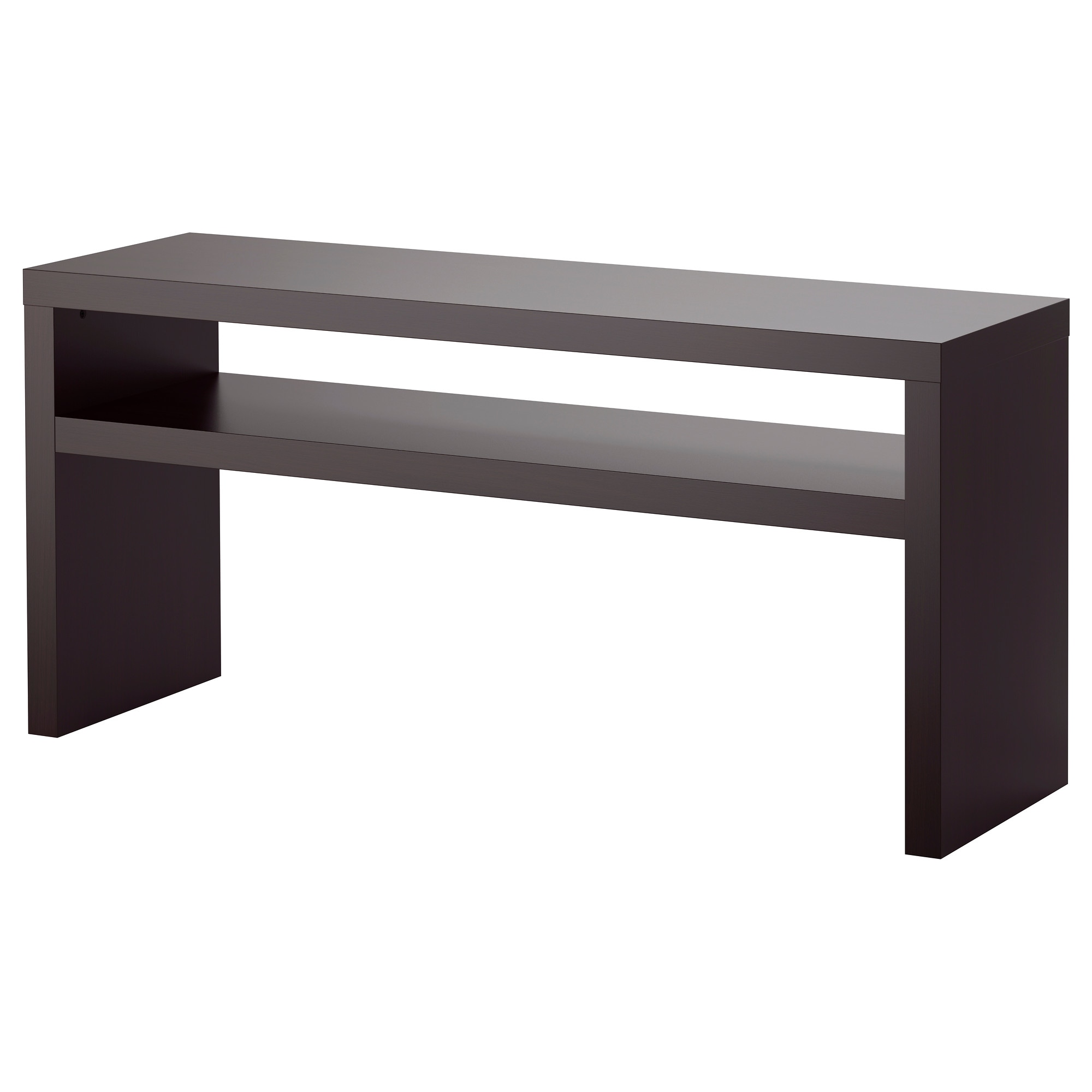 Black console table with storage - Lack Console Table Black Brown Length 55 1 8 Width