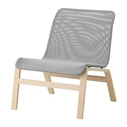NOLMYRA easy chair, birch veneer, grey