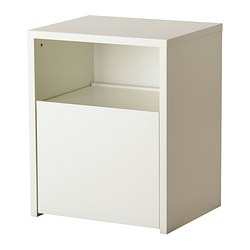 MICKE desk with printer storage, white Width: 61 cm Depth: 50 cm Height: 75 cm