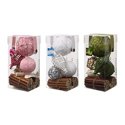 DOFTA potpourri in a box, scented assorted colours Length: 9 cm Width: 9 cm Height: 20 cm
