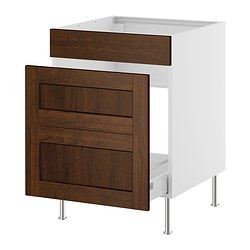 FAKTUM base cab f sink/waste sorting, Rockhammar brown Width: 59.8 cm Depth: 60.0 cm Height: 86.0 cm