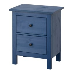 HEMNES chest of 2 drawers, blue Width: 54 cm Depth: 38 cm Height: 66 cm