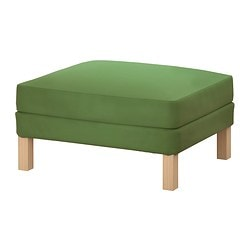 KARLSTAD footstool cover, Sivik green