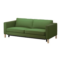 KARLSTAD three-seat sofa-bed w storage, Sivik green Depth: 93 cm Height: 83 cm Seat depth: 56 cm