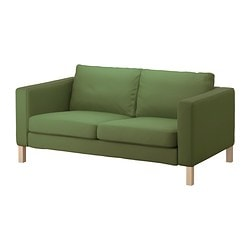 KARLSTAD cover two-seat sofa, Sivik green