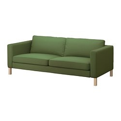 KARLSTAD cover three-seat sofa, Sivik green