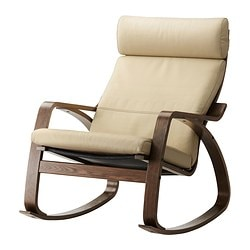POÄNG rocking-chair, brown, Glose Robust eggshell
