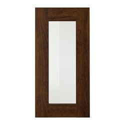 EDSERUM glass door, wood effect brown Width: 29.7 cm System, height: 60 cm System, width: 30 cm