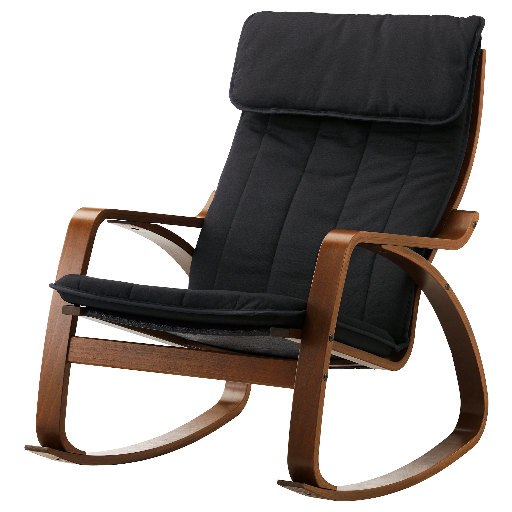 Modern leather rocker recliner - Po Ng Rocking Chair Medium Brown Ransta Black Width 26 3 4