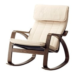 POÄNG rocking-chair, Alme natural, brown Width: 68 cm Depth: 94 cm Height: 95 cm