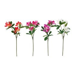 "SMYCKA artificial flower, azalea assorted colors Height: 13 "" Height: 33 cm"