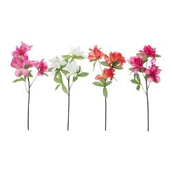 "SMYCKA artificial flower, azalea assorted colors Height: 19 ¾ "" Height: 50 cm"