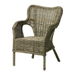 BYHOLMA armchair, grey