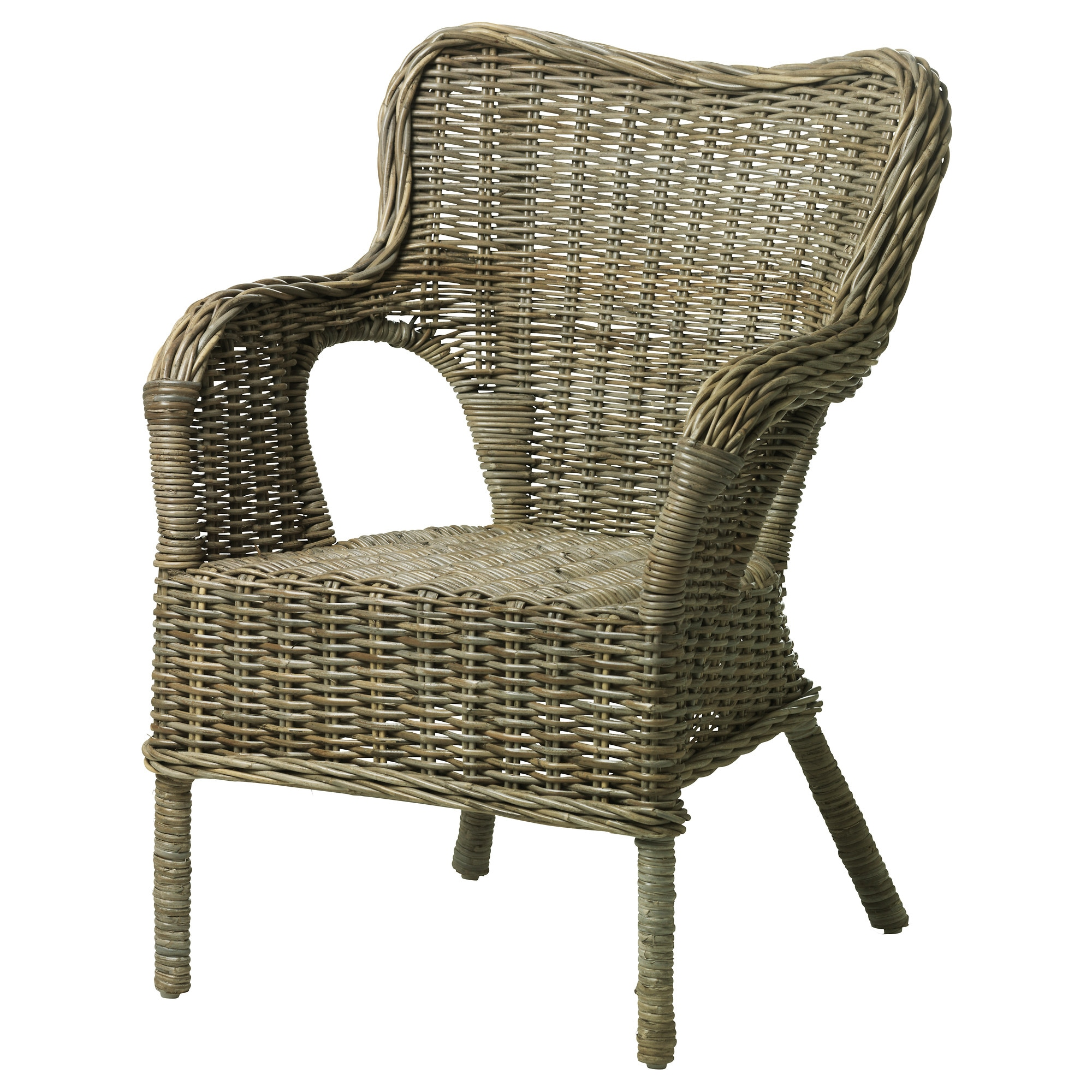 Rattan And Wicker Furniture #16: BYHOLMA Chair, Gray Width: 26 3/4 U0026quot; Depth: 28 3/