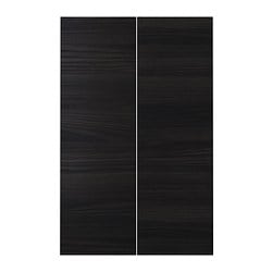 TINGSRYD 2-p door f corner base cabinet set, wood effect black System, height: 80.0 cm System, width: 25.0 cm Thickness: 1.6 cm