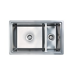 BREDSKÄR insert sink 1½ bowl, stainless steel Length: 77 cm Depth: 48 cm Height: 18 cm