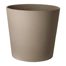 MANDEL plant pot, grey-brown Outside diameter: 37 cm Max. diameter flowerpot: 32 cm Height: 35 cm